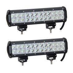 2X 72W 12  INCH CREE LED LIGHT BAR COMBO TRUCK JEEP PICKUP FORD BUMPER BOAT SUV | eBay