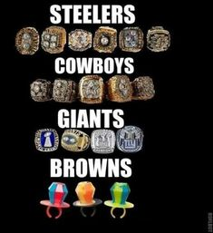 We're sorry that the Pittsburgh Steelers have the MOST Superbowl wins in the history of the NFL. Nfl Jokes, Funny Football Memes, Basketball Memes, Funny Sports Memes, Sports Humor, Funny Nfl, Funny Memes, Hilarious, Cowboys Memes