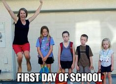 FIRST DAY OF SCHOOL -  funny, but I have to admit, I always hated the 1st day of school-it meant summer and all that lovely time with my kids was over :(