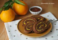 Girelle al cacao con crema di arance