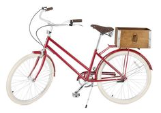 Brooklyn Cruiser partnered up with MoMA to create a special edition bicycle sold exclusively through MoMA. The eye-popping, cherry red unisex bike with its cream-colored tires was co-designed by Brooklyn Cruiser president Ryan Zagata and Rivendell Bicycle Works founder Grant Peterson.