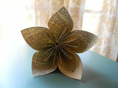 DIY Paper Flowers {I've made quite a few of these. Some just for decoration in my home. This tutorial is great! It is easy to follow. I've made these flowers out of scrapbook paper and a map (make sure whatever you use is double sided). These are pretty easy to do once you get the hang of it. They are very time consuming, but very worth it! mhb²}