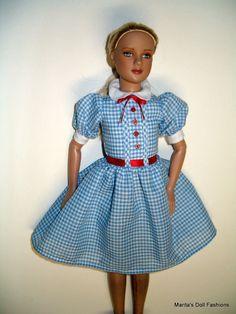 Blue Gingham dress -Dorothy -outfit for 12  Marley Wentworth-Fashion-Senton Doll