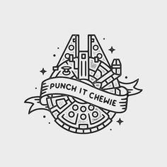 Punch it Chewie! Star Wars.