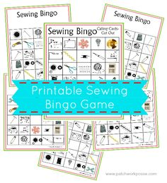 Sewing Bingo Printable Boards | patchwork posse | easy sewing projects and free quilt patterns #freeprintable #bingo #quiltgroup