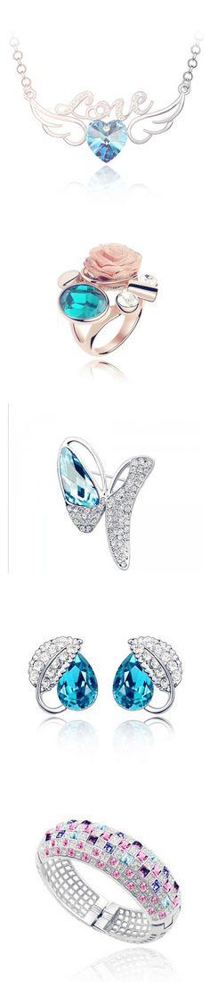 blue theme jewelry at dearoy.com