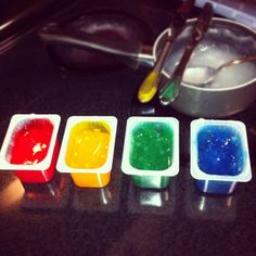 Home made baby safe finger paint!