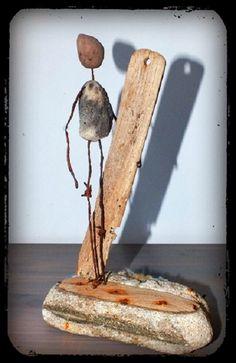 Bruno Mutoz Mottais' Surfing Surfer Sculpture Statue Weblink: http://mutozinc.blogspot.fr/ Facebook Page: https://www.facebook.com/Mutozincboisflottes