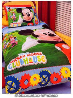 Mickey Mouse Bedding Quilt Cover Set Donald Goofy Minnie ...