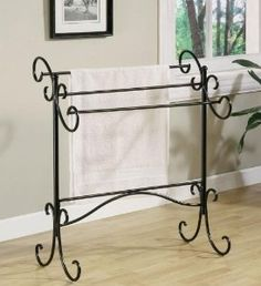 Beautiful black finish, free standing towel rail or use it for your clothes overnight ready to get dressed in the morning! http://www.amazon.com/gp/product/B003OA1P0C/ref=as_li_ss_tl?ie=UTF8=1789=390957=B003OA1P0C=as2=wwwangellryco-20