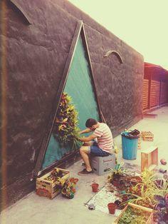 Jardin vertical triangular diseñador Ignacio Stesina