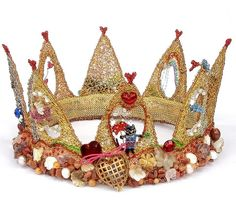 fantastic crocheted and beaded wire crown