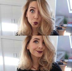 pinterest : teenageovercast ❤ Zoella Beauty Range, Popular Youtubers, British Youtubers, Zoella Hair, Beauty Makeup, Hair Beauty, Zoe Sugg, Funny Tattoos, Beautiful Lips