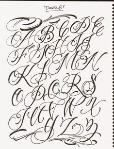 Tattoo fonts cursive, cursive tattoos et tattoo lettering fonts. Tattoo Fonts Cursive, Letters Tattoo, Tattoo Lettering Alphabet, Tattoo Lettering Styles, Chicano Lettering, Lettering Guide, Graffiti Lettering Fonts, Tattoo Script, Typography