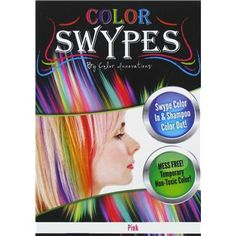 Color swypes (in a variety of colors) are the fun and easy way to add brilliant color to your hair.