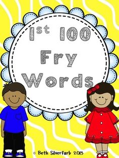 Fry Words: Flashcards & More. Flashcards and over 100 different bingo boards for the 1st 100 Fry Words.