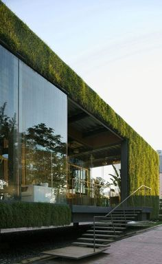 Such a cool combination of modern architecture and nature