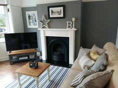 My living room. Home Living Room, Living Room Color, Blue Living Room, New Living Room, Log Burner Living Room, Coastal Living Rooms, Living Room Grey, Cosy Living Room, Victorian Living Room