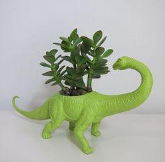 a brontosaurus planter!