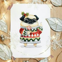 69 Super Ideas for children illustration art girls Christmas Illustration, Cute Illustration, Watercolor Illustration, Christmas Drawing, Christmas Art, Watercolor Christmas, Cartoon Kids, Girl Cartoon, Character Concept