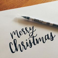 Merry Christmas you guys! Over here that means a lot of new pens & supplies 😍 New Pen, Brush Pen, Pens, Meant To Be, Merry Christmas, Calligraphy, Color, Instagram, Merry Little Christmas