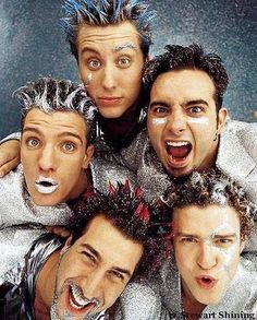 Nsync. I feel bad that someone actually made them do this