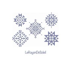 Classic christmas snow flakes - cross stitch pattern - PDF instant download - Tree decoration - gift tags - greeting cards. Pdf Patterns, Cross Stitch Patterns, Tree Decorations, Christmas Decorations, Christmas Tag, Xmas, Snow Flakes, Colour List, Cross Stitching