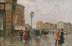 Carlo Brancaccio (1861-1920)-  Piazza Trieste e Trento a Napoli