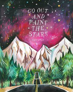 Paint The Stars Van Gogh Art Print by thewheatfield on Etsy