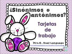 Spanish Synonyms and Antonyms-FREEBIE