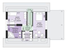 DOM.PL™ - Projekt domu Dom przy Imbirowej 3 CE - DOM EB3-29 - gotowy koszt budowy House Plans, New Homes, Floor Plans, Projects, House Floor Plans, Floor Plan Drawing, Home Plans