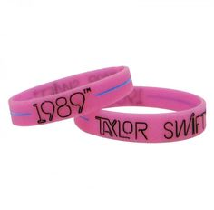 "TAYLOR SWIFT OFFICIAL ""1989"" - STYLE RUBBER BRACELET Pink"