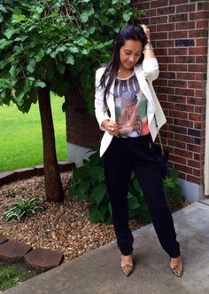 Professional Chic wearing $7 pants from Target | Mexi-Sweet