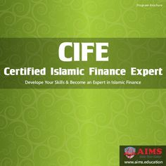 Online Islamic Finance Certification CIFE keeps a good balance between theoretical studies and practical experience. It is a globally recognized and career oriented Islamic finance certification offered by AIMS since year 2008. CIFE comprises five Islamic finance courses online and .....  https://www.slideshare.net/aimseducation/certified-islamic-finance-expert-cife-online-islamic-banking-courses #IslamicFinanceCertification #IslamicFinanceCourse #CIFE