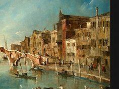Франческо Гварди. Вид на канал Каннареджио , Венеция