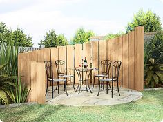 Patio Ideas On A Budget | Patios Decking Turfing Pergolas brick or stone walls rock gardens ...