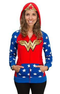 Embrace Your Themyscira Heritage With A Wonder Woman Cosplay Hoodie