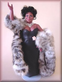 Aretha Franklin doll - Doesn't look a thing like her. But, it's the thought that counts I suppose