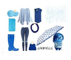 """""""sadness in blue"""" by soccer1938 ❤ liked on Polyvore featuring Disney, Hunter, WithChic, Aspinal of London, Marc by Marc Jacobs, Eos, Kenneth Jay Lane and Eugenia Kim"""