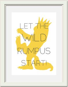 Where the Wild Things Are Nursery Printable Wild by OliveandBirch, $4.50.  Just got this for Palmer's room in gray