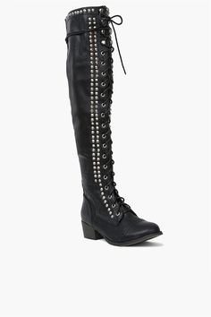 Studded Tall Boot in Black - Wish I had the legs for these, because I would love them!