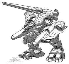 19 Mechwarrior Coloring Ideas Mech Mecha Giant Robots