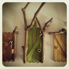 Homemade fairy doors