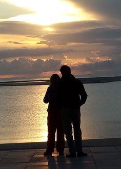 Paar im Sonnenuntergang, Bokum im September 2014