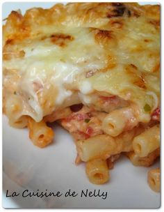 Pasta Gratin with Tuna and Garlic Cheese Whole30 Fish Recipes, Easy Fish Recipes, Meat Recipes, Asian Recipes, Healthy Recipes, Ethnic Recipes, Recipies, Polenta, Italy Food