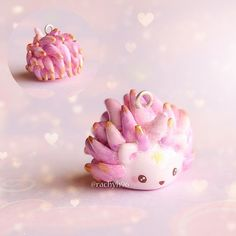 Hi everyone! Here's a pic of my unicorn watercolour hedgehog. This one has pink and purple spikes with gold tips, a glittery horn and a little golden star painted in its face (which is difficult to see here because of the glare) ✨⭐ Hope you like it! ✌ #polymerclay #polymer #clay #cute #kawaii #hedgehog #unicorn #pastel #pink #craft #art #handmade #sculpey #fimo #premo #polymerclaycharms