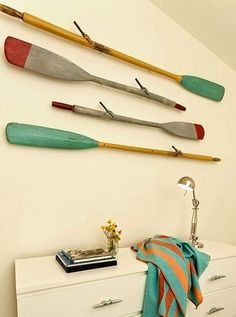 Image result for ropes and wood painted paddles images