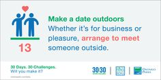#30x30Challenge: Meet outside