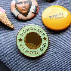 Wear your Gilmore Girl fandom loud & proud with this Honorary Gilmore Girl pin. The perfect Gilmore accessory for your jacket, bag or pin collection.  PIN SIZE: 1 COLOUR: Teal, Brown & Gold PIN TYPE: Soft enamel  ......................................................  Check out our Greeting Cards : http://etsy.me/1HVqVl5  Please read our information on shipping & other shop policies : http://etsy.me/1FFjb6o  Bookmark our shop to come back & visit ...