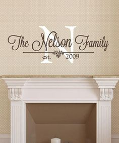 Personalized Family Name Signs Name Wall Decal Monogram Wall - Family monogram wall decals